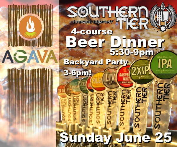 AGAVA Southern Tier Backyard Party and Beer Dinner June 25