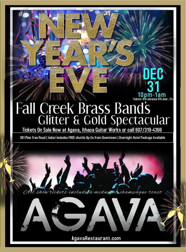 AGAVA Fall Creek Brass Band's Glitter & Gold New Year's Eve