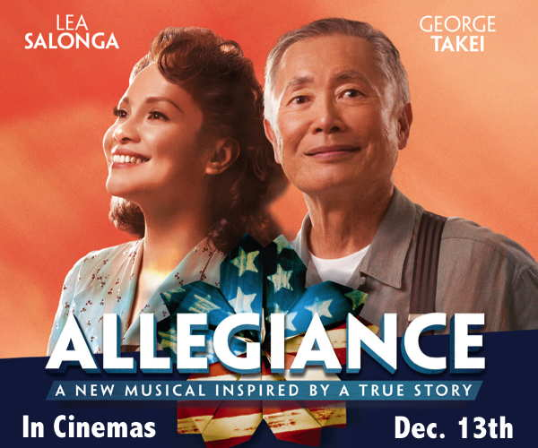 Buy tickets to see George Takei's Allegiance on Broadway. Opens in select theaters on December 13, 2016.