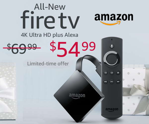 Shop Amazon Devices - Save $15 on All-New Amazon Fire TV