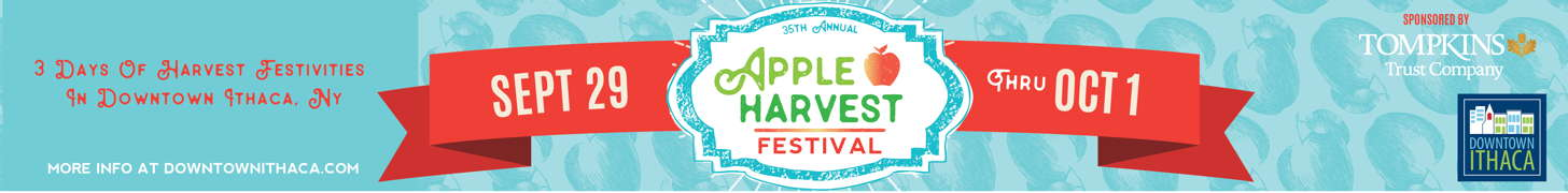 Downtown Ithaca's Apple Harvest Festival is September 29 - October 1