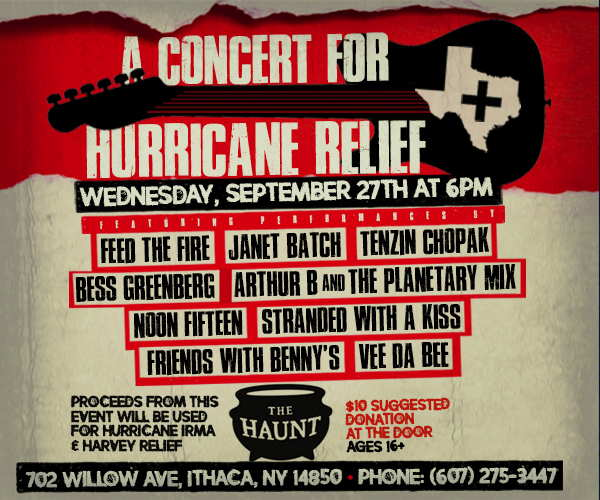 VDB & The Haunt present: A Concert for Hurricane Relief September 27th