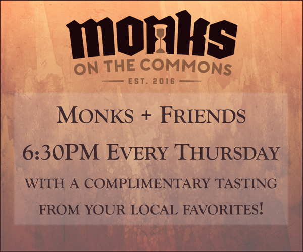 Monks & Friends free tastings Thursdays!
