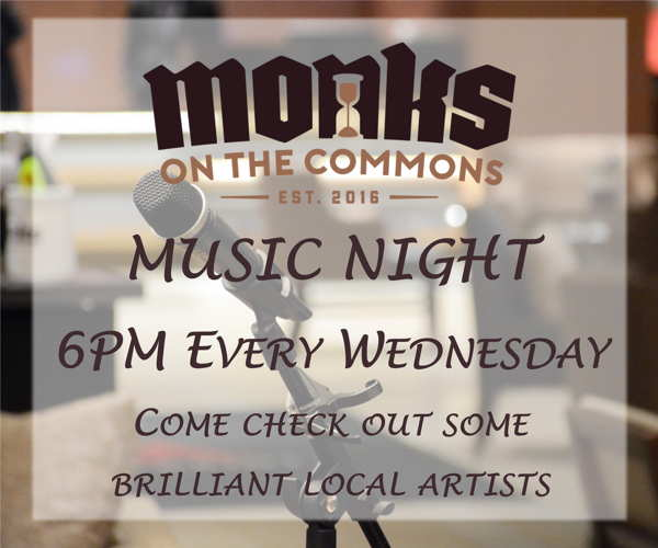 Monks on the Commons Music Night 6pm every Wednesday