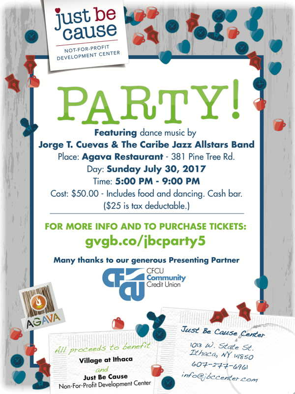 Just Be Cause PARTY at Agava July 30!