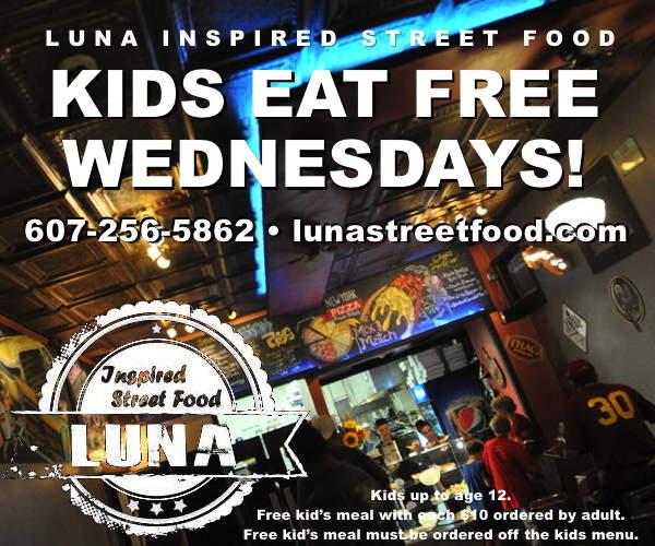 Kids eat free Wednesdays at Luna!