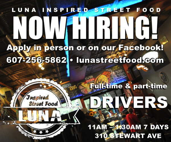 Luna Inspired Street Food now hiring drivers!