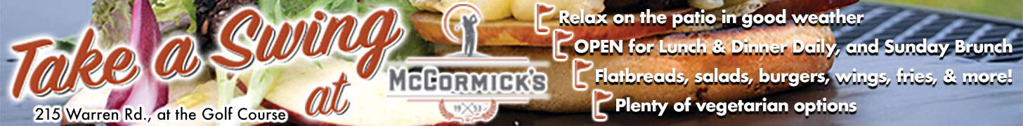 Take a Swing at McCormick's! Now open at the Golf Course