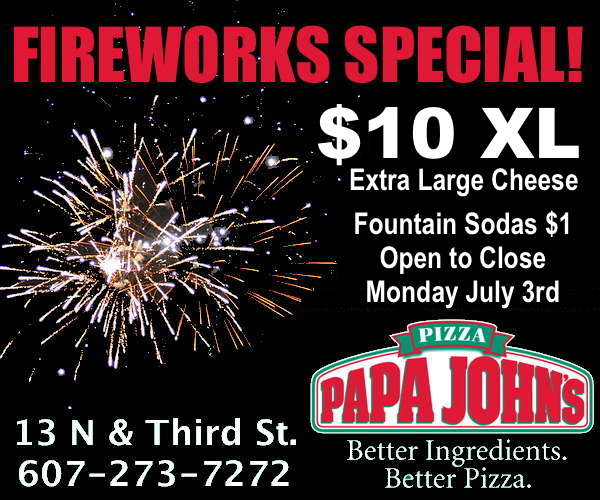 Papa John's Fireworks Special: $10 XL Cheese Monday July 3rd
