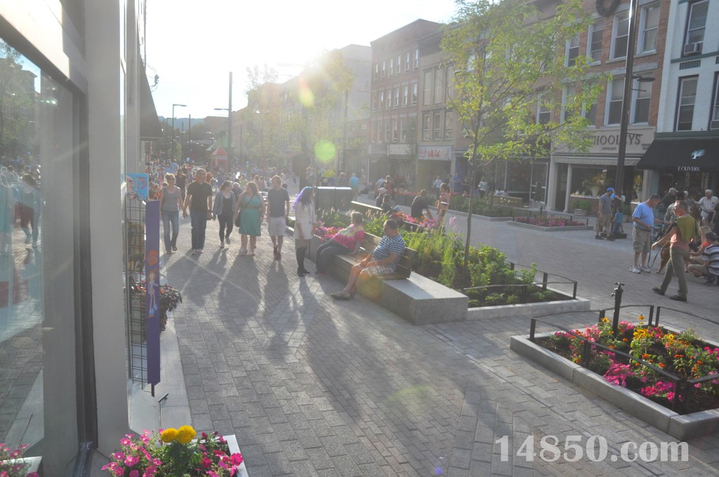 The new Ithaca Commons.