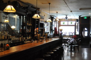 The bar at Rulloff's.