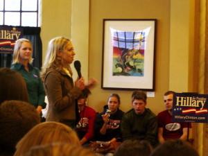 Chelsea Clinton, visiting Ithaca on Monday. Photo courtesy WisPolitics.com.