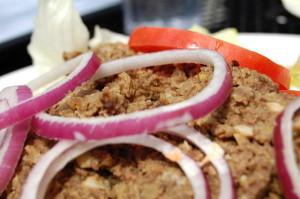 Chopped liver platter at Hal's Deli.
