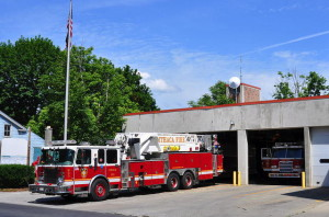Ithaca Fire Department's Central Fire Station on West Green Street. 14850 file photo.