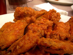 Napoli Pizzeria has some of the best wings in town, if you don't mind the breading.