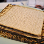 Matzah is the traditional unleavened bread served throughout Passover.