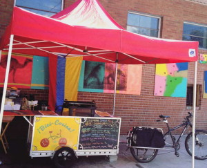 The BiciCocina Colombian food cart appears around Ithaca. Photo via Facebook.