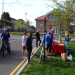 A past Bike to Work Day breakfast station. Photo courtesy of Ray Weaver.