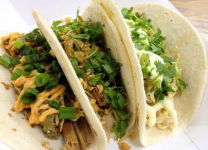 A trio of tacos from Gorgers Taco Shack. 14850 file photo.