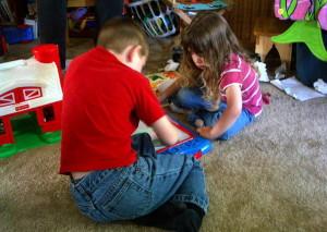 Kids playing. 14850 file photo.