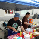 Lou Cassaniti's hot dog cart on the Commons. 14850 file photo.