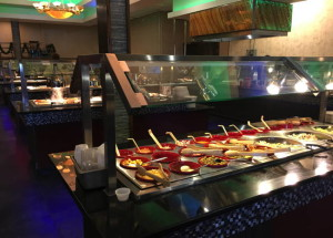 Several buffet tables offer a host of hot and cold dishes at Spring Buffet.