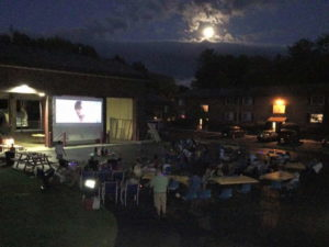 Movies at the Cayuga Heights Fire Station were a hit last summer! Photo provided.