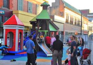This new playground opened on the Commons last summer. 14850 file photo.
