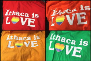 Last day to buy your own Ithaca is Love t-shirt. Photo provided.