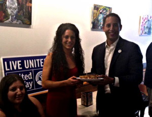 The winner! Sandwich designer Vanessa O'Connor. Photo provided by United Way.