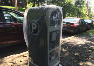 One of Ithaca's newest paystations. You just can't use it yet. 14850 Photo.