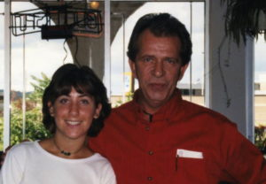 Andy Castrenze, right, with an unnamed waitress at the Cafe in the mid '90s. Photo courtesy of Joe Scaglione III.
