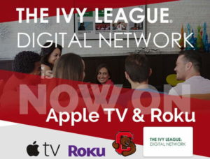 Cornell Athletics online broadcasts will now be available on Apple TV and Roku.