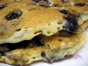 Blueberry pancakes at the Lincoln Street Diner.