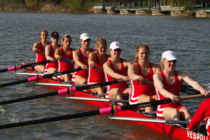 Cornell alum Tracy Eisser is fourth from left. Team USA Rowing photo courtesy of Cornell.
