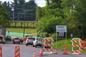 Pine Tree Road is nearly ready to reopen after over two months of detours. 14850 Photo by Mark H. Anbinder.
