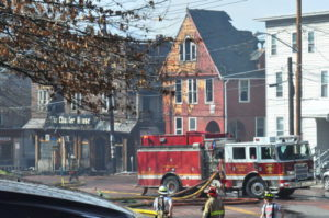 A fire in April 2015 destroyed the Chapter House and surrounding apartments. 14850 file photo.
