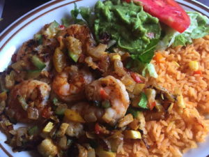 Shrimp Yucatan, just $9 for lunch. Photo courtesy of Joe Scaglione III.