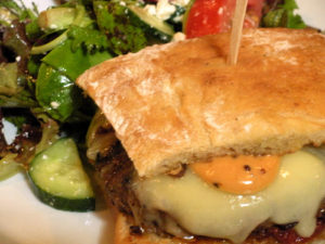 The Carriage House Burger is always one of the best in town!