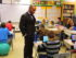 Ithaca superintendent Dr. Luvelle Brown visiting a classroom. Photo courtesy of ICSD.