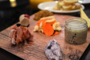 Build your own charcuterie board from eight or nine selections.