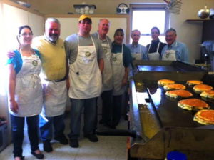 Rotarians preparing breakfast. Photo provided.