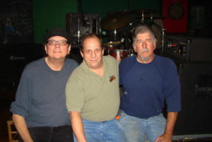 Pete Panek, Taz Cannon, and Glenn Davis (l-r) at the 30th anniversary Blue Monday Jam. Photo courtesy of Taz Cannon.