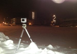 A remote camera to capture the numbers changing. Photo courtesy of Rob Engelsman.