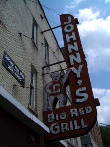 The Johnny's Big Red Grill sign on Dryden Road. 14850 file photo.