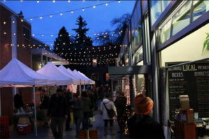 A holiday market at Press Bay Alley. Photo provided.