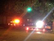 Nighttime police response.
