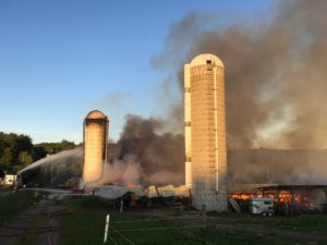 Barn fire in Varna
