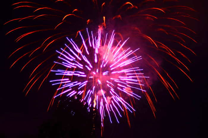 ithaca community fireworks tonight with free tcat bus service