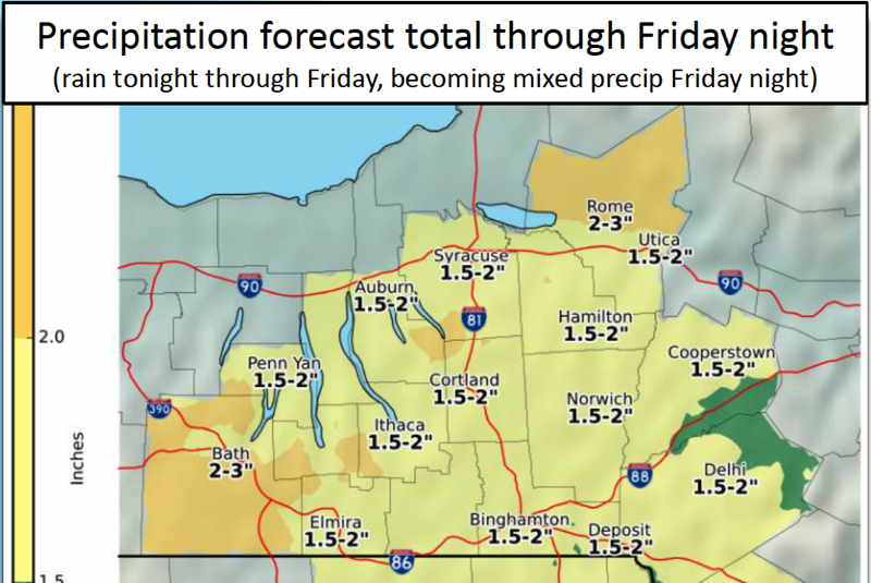 Rain expected Tuesday, Thursday and Friday